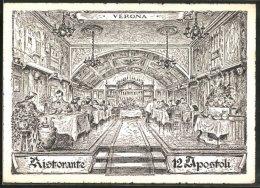 Cartolina Verona, Innenansicht Ristorante 12 Apostoli - Verona