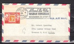 CEBU CITY Attend The Marian Congress 1954 (Cancel Has Been In Use For Very Short Time) > USA - Filippijnen