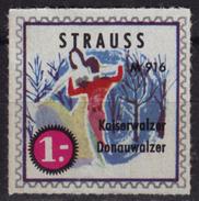STRAUSS Kaiserwaltzer Donauwaltzer Danube Dance / LP Advertising LABEL CINDERELLA VIGNETTE Classical MUSIC - MNH