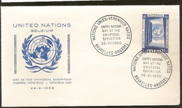 Portugal &  FDC Nações Unidas, Exposição Internacional, Bruxelas 1958 (1089)