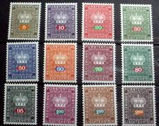 LIECHTENSTEIN # O47-O58.  Official Stamps - Crown. MNH (**)