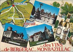 Circuit Des Vins De Bergerac Monbazillac France - With Postage Stamp - France