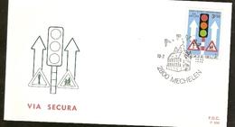 Portugal &  FDC Via Segura, 20 Years Of Road Safety, Mechelen 1972 (1617)