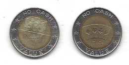 Metal Token - Dice And Word CASINO On One Side - Cards And Letters T.C. On Other - No Cash Value - 25mm Diameter - Unclassified