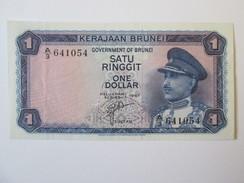 Brunei 1 Dollar 1967 AUNC - [ 3] 1936-1975: Regime Van Franco