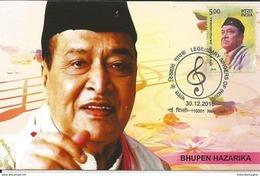 Maxim Card Bhupen Hazarika ,Legendary Indian Playback Singer,Lyricist, Musician, Singer, Poet , Inde, India
