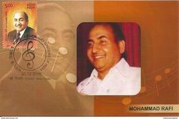 Maxim Card Mohammad Rafi ,Legendary Indian Playback Singer,  Born To Hajji Ali Mohammad,Muslim, Inde, India