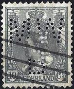 Netherlands 1899 - Queen Wilhelmine ( Mi 56 - YT 53 ) Perfin MWB