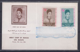 Iran 1968 Great Camp Of Iranian Girl Scouts FDC