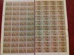 Y Et T: N°129/130 Neuf ** (MNH) En Morceau De Feuille De 40 Timbres, Cote: 36,00€. TTB