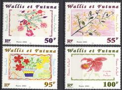 WWF 2001 Serie N. 550-553 Disegni Di Bambini MNH Cat. € 8.40 - Wallis E Futuna