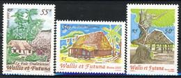 WF 2002 Serie N. 571-574 Capanne Tradizionali MNH Cat. € 5.80 - Wallis E Futuna