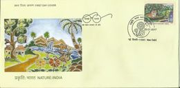 First Day Cover Nature India 2017  Depicting Tiger, As Per Scan, First Day Cancelled