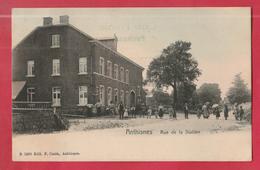 Anthismes - Rue De La Station ... Jolie Carte Couleur Bien Animée - 1906 ( Voir Verso ) - Anthisnes
