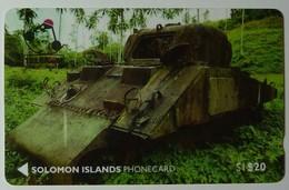 SOLOMON ISLANDS - 1st Issue - Sherman Tank - $20 - O1SDA - MINT
