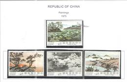 Taiwan 1975 Dipinti. Scott.1960/63 See Scan - 1945-... Republic Of China