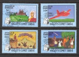 Antigua Sc# 920-923 SG# 1000/1003 Used 1986 Hailey's Comet #1