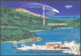 Antigua Sc# 924 SG# MS1004 Used Souvenir Sheet 1986 Hailey's Comet #1