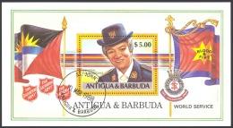 Antigua Sc# 1091 Used Souvenir Sheet 1988 $5 Sailboat - Australia II