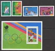 Antigua Sc# 1140-1144 SG# 1222/1225,MS1226 Used 1988 Seoul Olympics