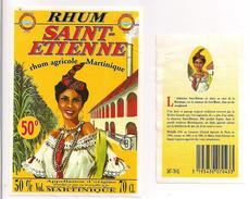 Etiquette Décollée RHUM Saint-Etienne - Agricole - 50° - Gros Morne - MARTINIQUE - Médaille Or 1994 - - Rhum