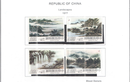Taiwan 1977 Paesaggi Scott.2038/2041+ See Scan - 1945-... Republic Of China