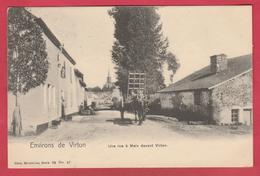Meix-devant-Virton - Une Rue à Meix ... Attelage - 1907 ( Voir Verso ) - Meix-devant-Virton