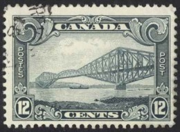 Canada Sc# 156 Used (a) 1929 12c Grey King George V Scroll Issue - 1911-1935 Reign Of George V