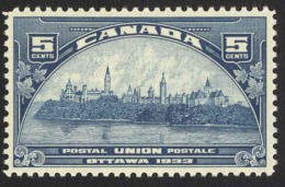 Canada Sc# 202 MNH 1933 5c Dark Blue Parliament Buildings - Neufs