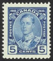 Canada Sc# 214 MH (c) 1935 5c Blue Prince Of Wales - Unused Stamps