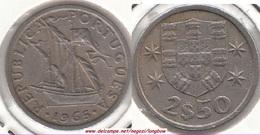 Portogallo 2.50 Escudos 1965 KM#590 - Used - Portogallo