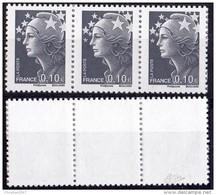 VARIETE N°4228b MARIANNE DE BEAUJARD 10c GRIS  SANS PHOSPHORE TOTAL SIGNE CALVES LUXE