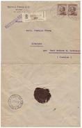 RACCOMANDATA 1921 DA MILANO - NATALE FROVA &C. -CON CERA LACCA SUL RETRO (VP400 - Marcophilia