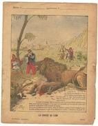 Couverture De Cahier 19° Siècle - Illustration La Chasse Au Lion (protège Cahier) - Animaux