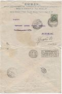 LETTERA 1928 - ERMES - SUL RETRO TIMBRO IL DISPENSARIO… (VP404 - 1900-44 Victor Emmanuel III.