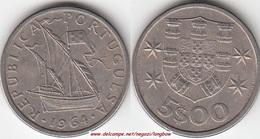 Portogallo 5 Escudos 1964 KM#591 - Used - Portogallo