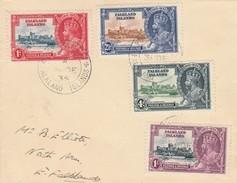 LETTERA VIAGGIATA - FALKLAND ISLANDS 1935 KGV SILVER JUBILEE (VP416 - Falkland Islands