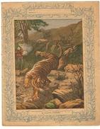 Couverture De Cahier 19° Siècle - Illustration La Chasse Au  Tigre (protège Cahier) - Animaux
