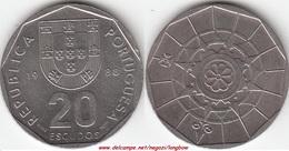 Portogallo 20 Escudos 1988 KM#634.1 - Used - Portogallo