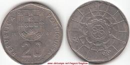 Portogallo 20 Escudos 1989 KM#634.1 - Used - Portogallo
