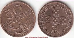 Portogallo 50 Centavos 1970 KM#596 - Used - Portogallo