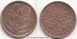 Portogallo 50 Centavos 1972 KM#596 - Used - Portogallo