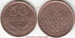 Portogallo 50 Centavos 1973 KM#596 - Used - Portogallo