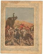 Couverture De Cahier 19° Siècle - Illustration La Chasse à L'éléphant (protège Cahier) - Animals