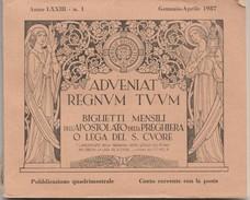 LIBRETTO (CIRCA 100 PAGINE) BIGLIETTI MENSILI DELL'APOSTOLATO DELLA PREGHIERA 1937 (VP442 - Devotion Images