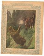 Couverture De Cahier 19° Siècle - Illustration La Chasse à L'ours Grizzly (protège Cahier) - Animals