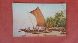 Sri Lanka (Ceylon) Colombo  Katamaran Native Fishing Boat  Tuck Series  ------   --ref-2501 - Sri Lanka (Ceylon)