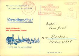 1983, Drucksache Freistempel Waggonbau Görlitz - DDR