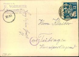 1950, 12 Pfg. Frieden Auf Postkarte Ab WERNIGERODE - DDR