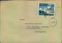 1949, 50 Pfg. U.P.U.auf Leicht überfrankiertem Doppelbrief Ab WERNIGERODE. Umschlag Mittelfalte. - DDR